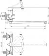 Смеситель Triton Панама 16307AW-D125 универсальный, 16307AW-D125